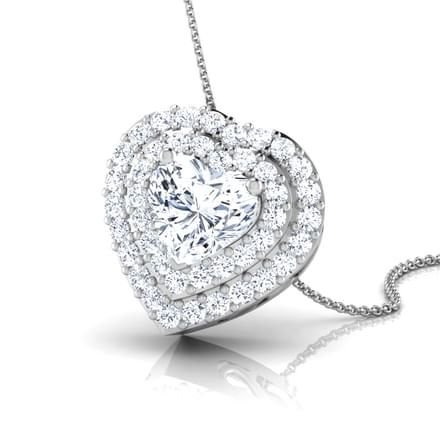Bella Heart Solitaire Pendant Mount