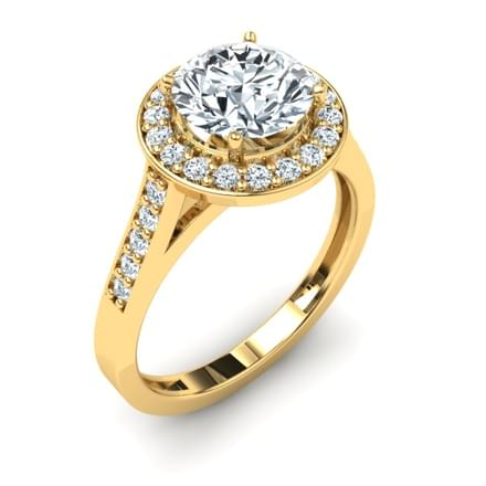Shimmering Solitaire Ring Mount