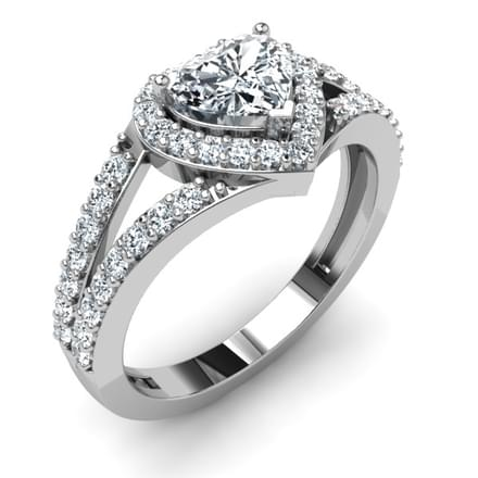 Bella Heart Mount Ring
