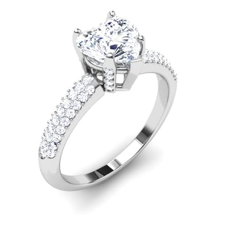 Queen of Hearts Solitaire Ring Mount