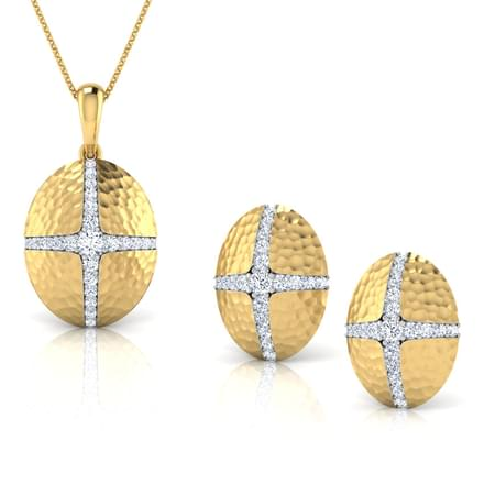 Nella Hammered Matching Set