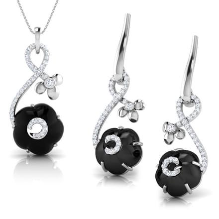Iva  Black Onyx Matching Set