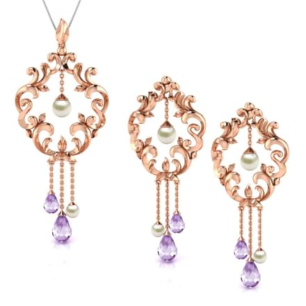 Enticing Filigree Matching Set