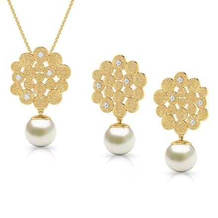 Honeycomb Pearl Drop Matching Set