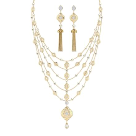 Amara Intricate Tassel Matching Set