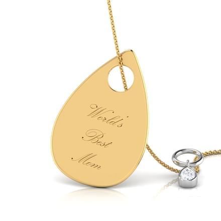 Gold Tear Drop Pendant