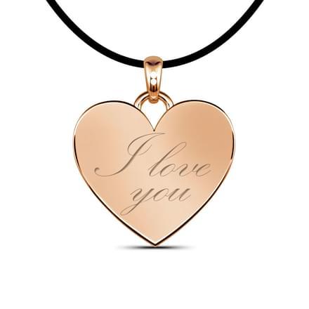 Love Pendant  18K Rose Gold.