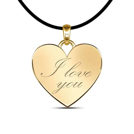 Love Pendant, 18K Yellow Gold