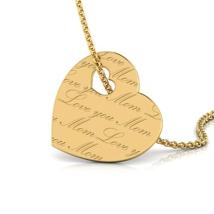 Engraved Heart Pendant