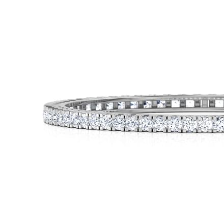 Glitzy Solitaire Bangle
