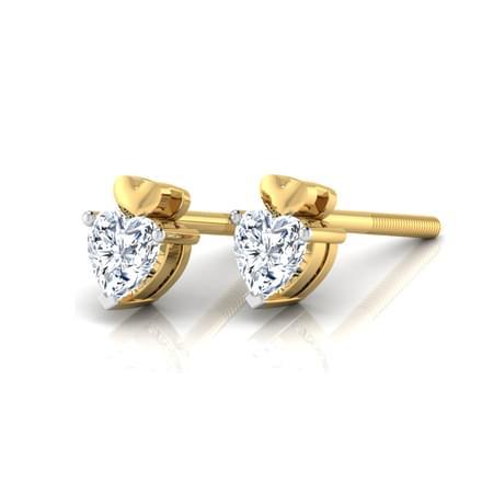 Aura Solitaire Stud Earrings