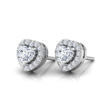 Bella Solitaire Stud Earrings
