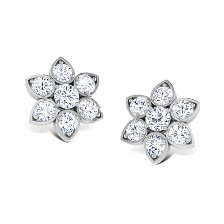 Contemporary Seven-Stone Studs