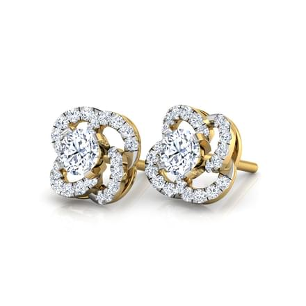 Claire Swish Solitaire Stud Earrings