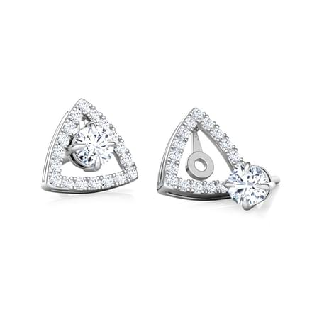 Shine Trigon Solitaire Stud Earrings