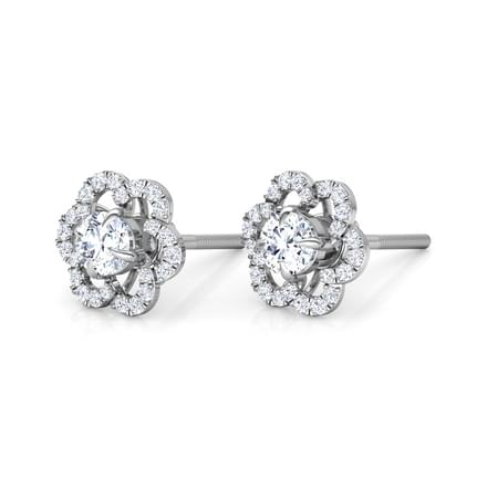 Bright Bloom Solitaire Stud Earrings