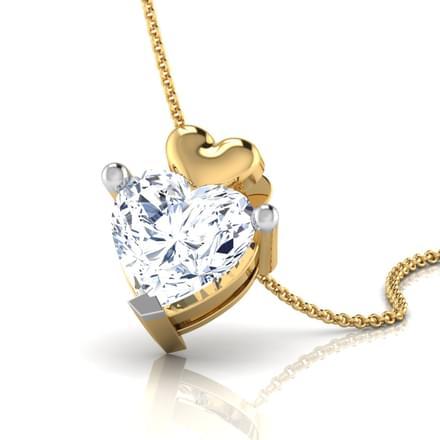 Aura Heart Solitaire Pendant