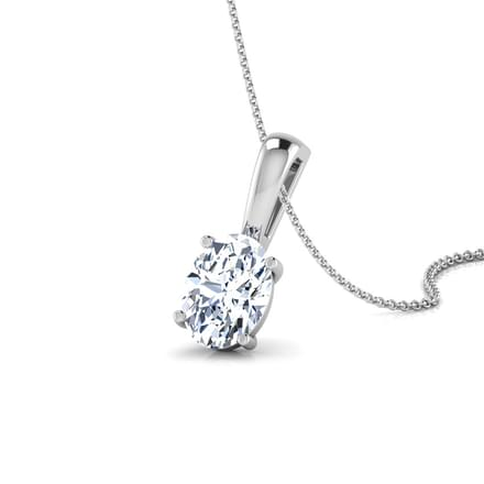 Renne Oval Solitaire Pendant