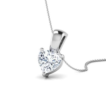 Jael Heart Solitaire Pendant