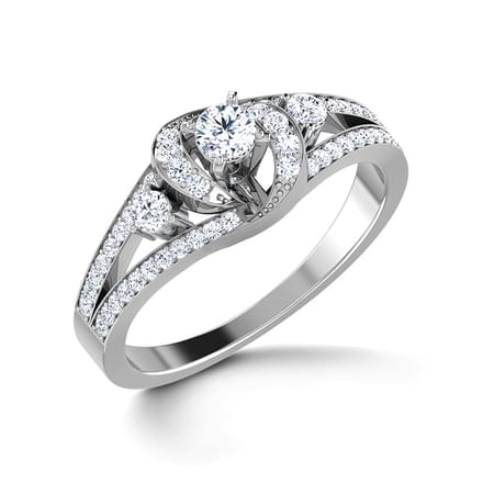 Glitter Solitaire Ring