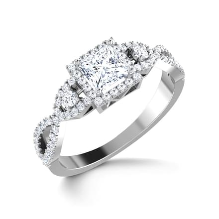 Angel Solitaire Ring