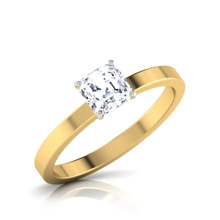 Glaze Asscher Solitaire Ring