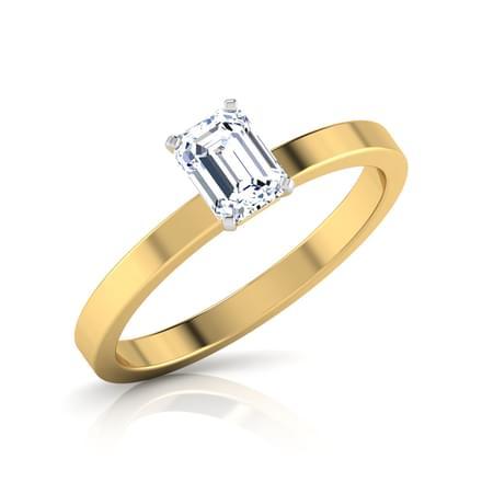 Glaze Baguette Solitaire Ring