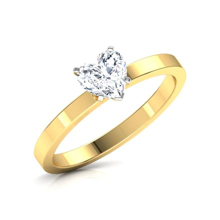 Glee Heart Solitaire Ring