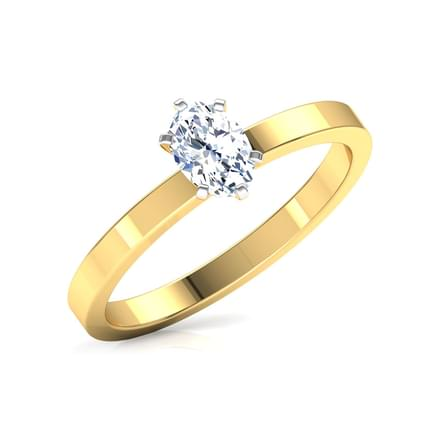 Glee Oval Solitaire Ring