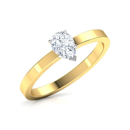 Glee Pear Solitaire Ring