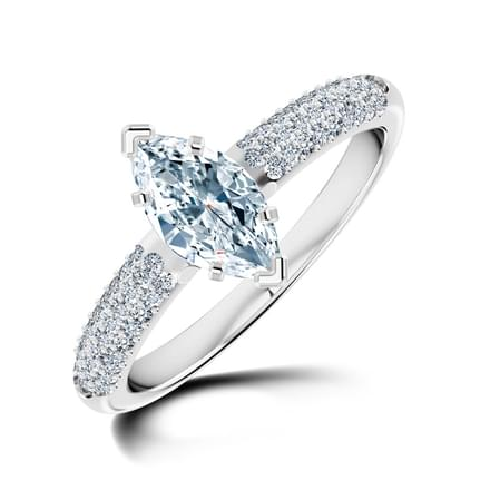 Charm Marquise Solitaire Ring