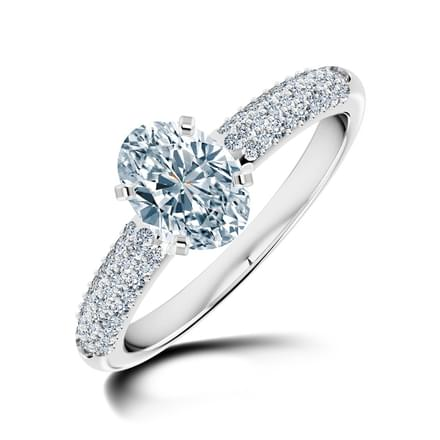 Charm Oval Solitaire Ring
