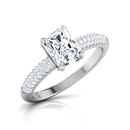 Charm Baguette Solitaire Ring