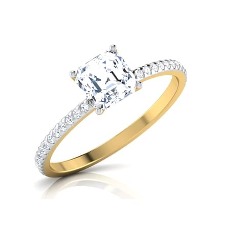 Zeal Asscher Solitaire Ring