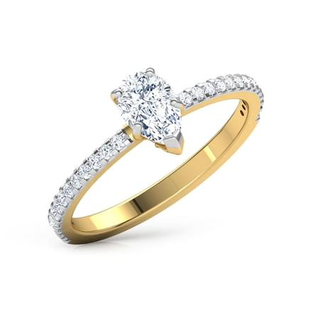 Zest Pear Solitaire Ring