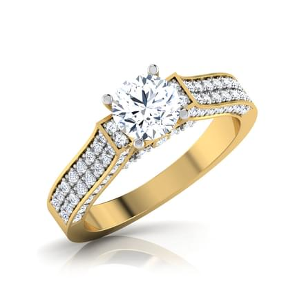Flare Solitaire Ring