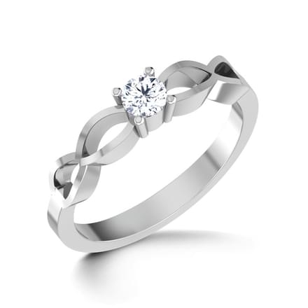 Smitten Platinum Ring