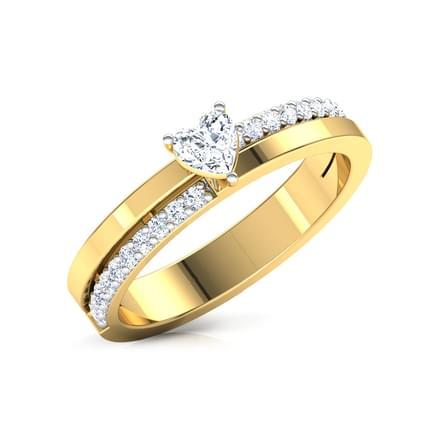 Habibah Heart Solitaire Ring