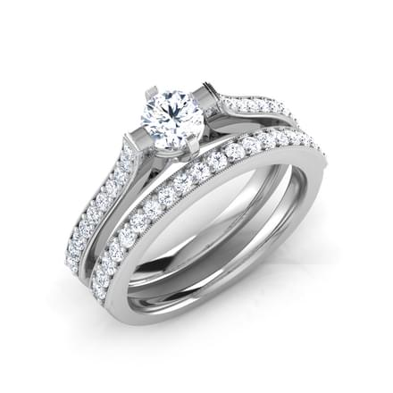 Sparks Solitaire Bridal Ring Set