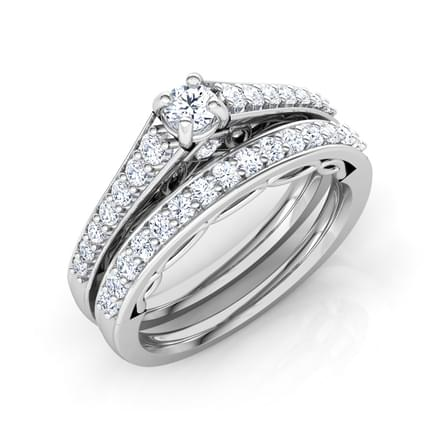 Sparkle Solitaire Bridal Ring Set