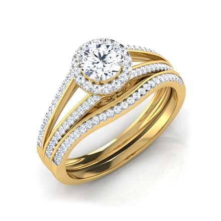 Kate Glitter Bridal Ring Set