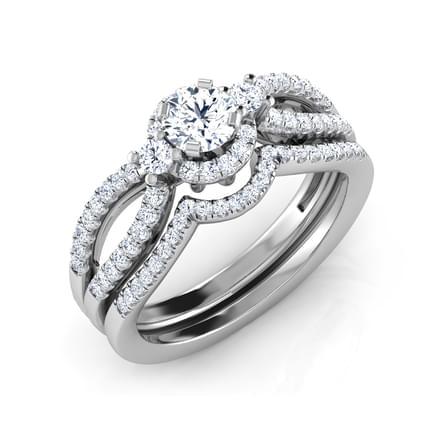 Etta Flash Bridal Ring Set