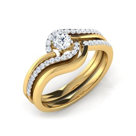Fern Luminous Bridal Ring Set