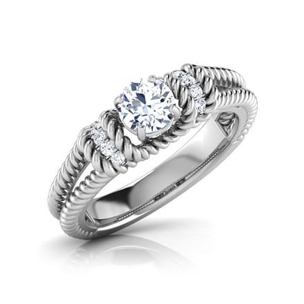 Ella Twist Solitaire Ring