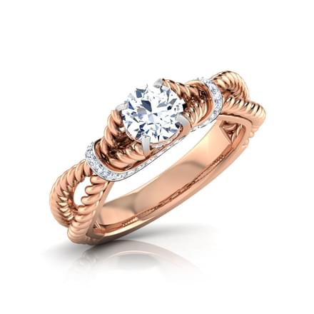 Aria Spiraled Solitaire Ring