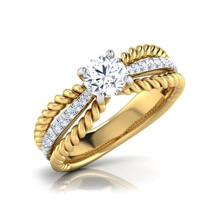 Elsa Intersecting Solitaire Ring