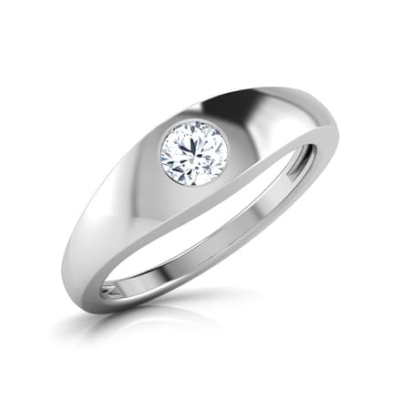Matt Solitaire Ring for Him