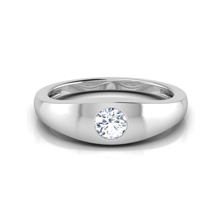 Matt Solitaire Ring for Men