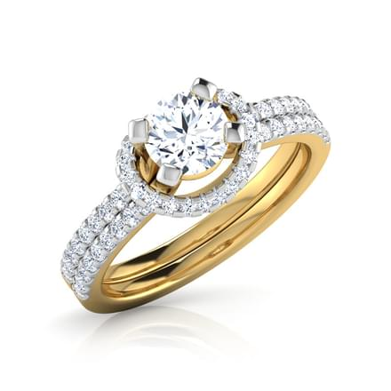 Mary Floating Halo Solitaire Ring