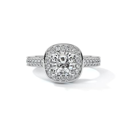 Clea Halo Solitaire Ring